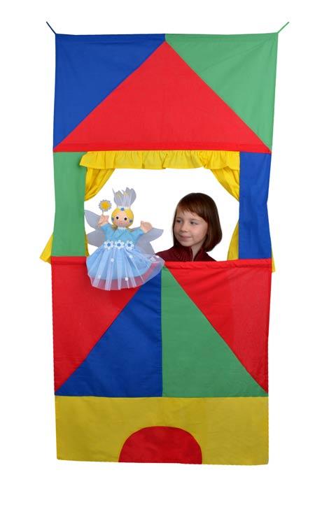 Tür Kasperletheater Zirkus, platzsparendes Kinder Puppentheater