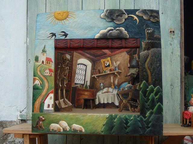 """Sammlerstück Puppentheater """"Dem Lande"""""""