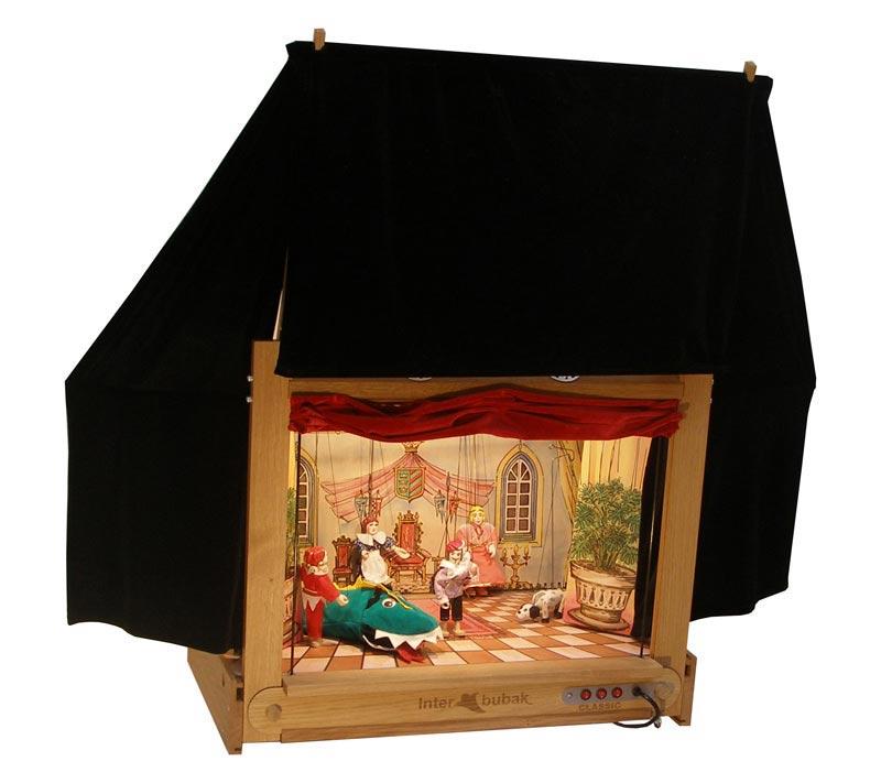 Der Hölzerne Modern Puppentheater  und 18 marionetten
