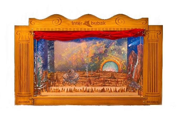Der Großes Hölzern Puppentheater
