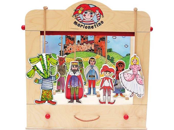 Familien Puppentheater aus Holz